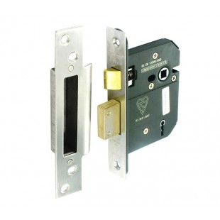 5 Lever Mortice Lock Brushed Stainless Steel Finish 76mm L11576S