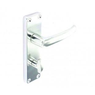 Aluminium Door Handles for Bathroom Doors on Backplate B3073