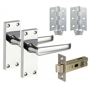 Backplate Door Handle Packs with Latch and Hinges H751021P HL1
