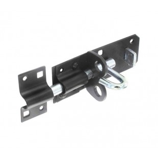 Black Bolt Lock with Padlock Security 150mm B1412