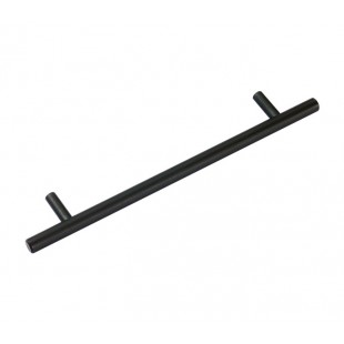 Black Cupboard Handles for Kitchen with 160mm Centres P110509BL