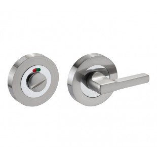 Disabled Toilet Lock with Turn, Release & Indicator in Duo Chrome D9710DZ