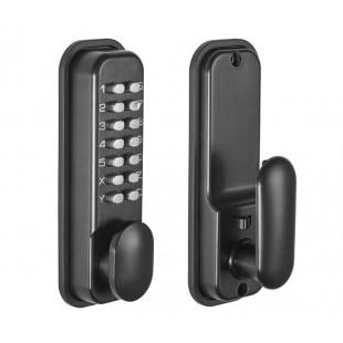 Digital Lock with Mechanical Keypad in Matte Black Finish L9001BL