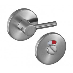 Disabled Toilet Door Lock Set 6mm in Satin Stainless Steel A9706S