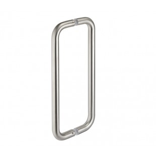 Pull Door Handles D Shaped Back to Back Pull Handles - 225mm Centres P901102BBS