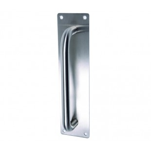 Pull Handles for Doors D Shaped Pull Handles on Backplate - 225mm Centres P901102BPS