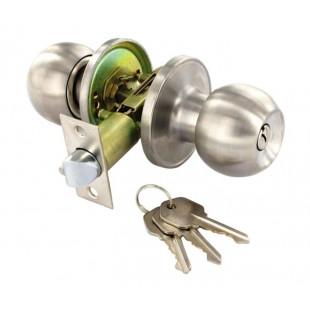 Entrance Door Knobs in Stainless Steel for Locking Doors B2953