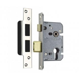 Euro Sash Lock Case 57mm Backset in Satin Stainless Steel SEU522-2