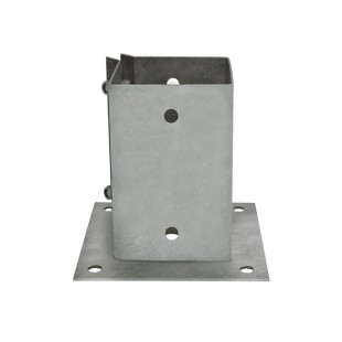 Fence Post Support Galvanised Steel 100mm