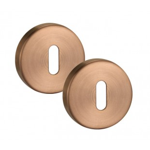 Keyhole Cover Plate Escutcheon Pair in Satin Copper 10mm A8310SCU
