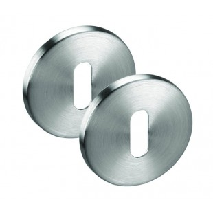 Stainless Steel Keyhole Escutcheon 6mm Pair A8601S