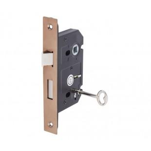 3 Lever Mortice Lock for Internal Doors 63mm / 45mm Copper L5145CU