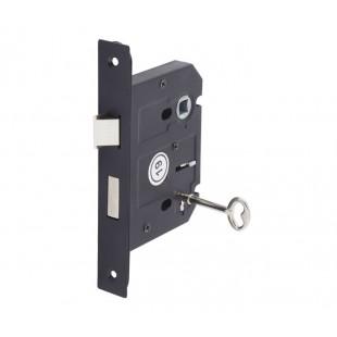 3 Lever Lock for Internal Doors 76mm / 57mm Matte Black L5157BL