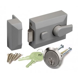 Nightlatch for Front Doors with Grey Finish L11160DG