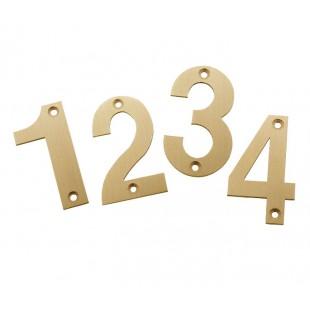 Front Door Numbers 3 Inch Satin Brass Door Numbers 0-9 X21300SB