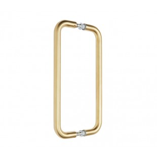 Back to Back Door Pull Handles with 300mm Centres in Satin Brass Finish P121123SB