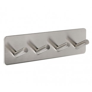 Stick on Bathroom Hooks for Robes and Towels Brushed Stainless Steel Finish C4010S