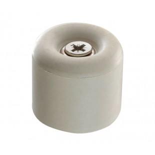 White Rubber Door Stop 30mm Diameter T953