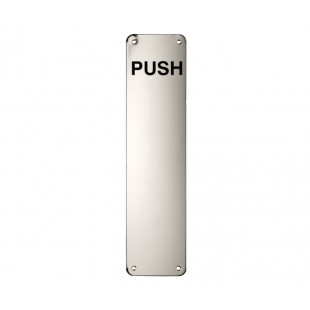 Polished Stainless Steel Door Push Plate 300 x 75mm X25P30P