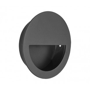 Flush Half Moon Matte Black Pull Handle 90MM X88110BL