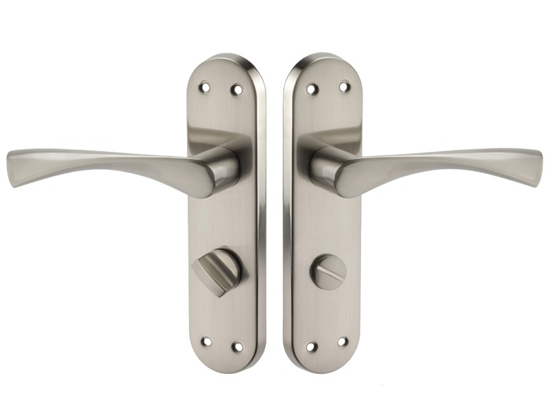 Bathroom Doors Handles bathroom door handles on left hand backplate with thumb turn