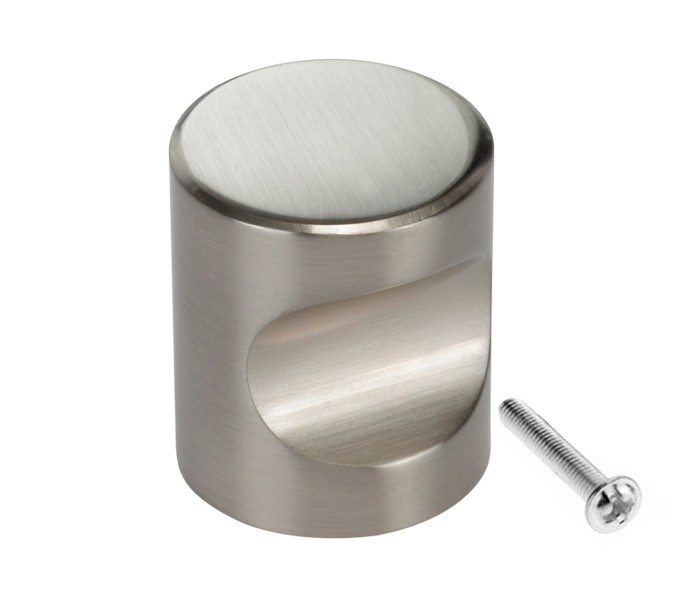 Cupboard Door Knobs with Brushed Stainless Steel Finish Handle