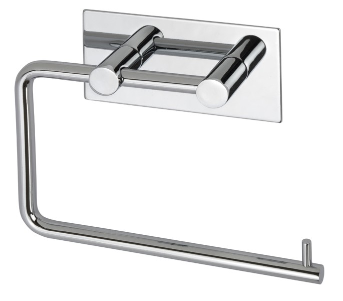 Polished Stainless Steel Toilet Roll Holder Self Adhesive Stick On