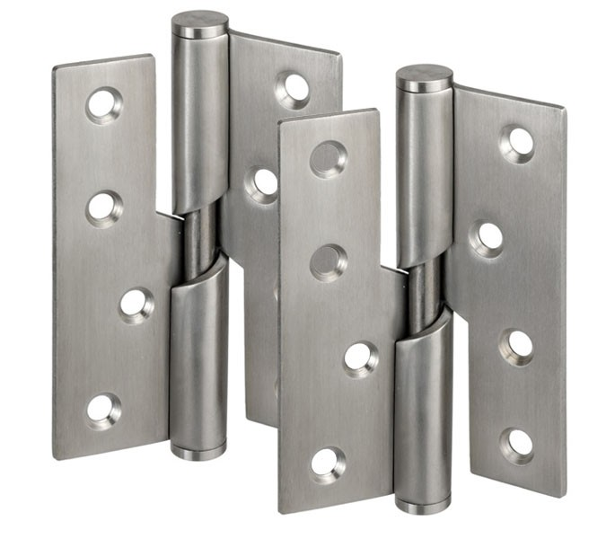 HONJIE Door Butt Hinges for Kitchen Furniture Hardware Silver Tone 40mm x 39mm-4Pcs