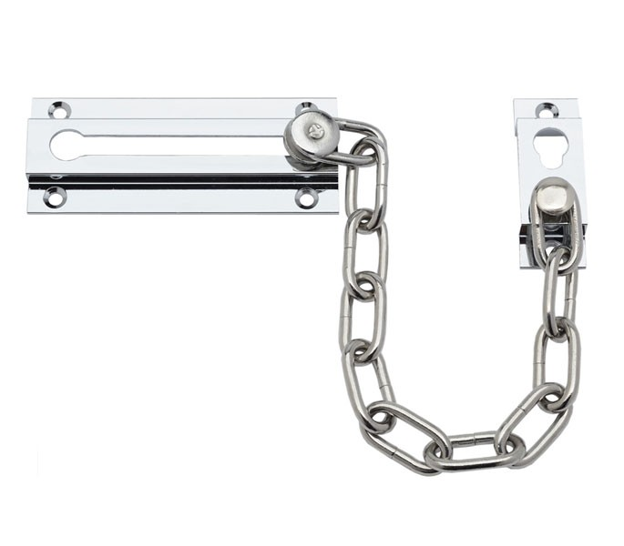Security Door Chain Lock for Front Doors with Chrome Finish - Handle ...