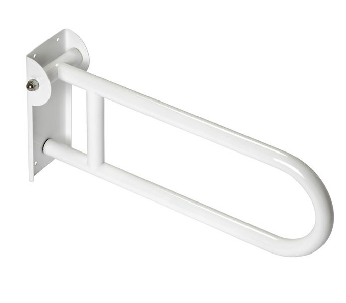 White Hinged Grab Rail 600mm Long *Doc M Pack* P80001W - Handle ...