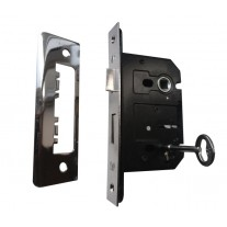 3 Lever Mortice Sash Lock, Brushed Chrome Finish 63mm L11263D