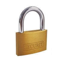40mm Brass Padlock with Hardened Steel Shackle and 3 Keys L11340B