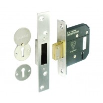 5 Lever Mortice Deadlock Brushed Stainless Steel Finish 76mm L12576S