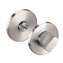 Satin Stainless Steel Bathroom Turn & Release 6mm Thick A87004S