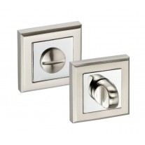Square Bathroom Turn & Release Duo Chrome Finish A87401D