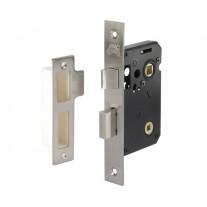 Bathroom Deadbolt Lock Brushed Chrome - 63mm / 45mm Backset L11163NP