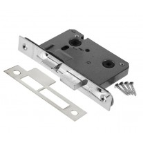 Nickel Plated Bathroom Mortice Lock 76mm L11176NP