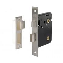 Bathroom Deadbolt Lock Brushed Chrome - 76mm / 57mm Backset L11176NP