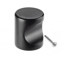 Black Cabinet Knobs with 22mm Diameter in Matte Finish X8821BL
