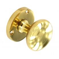 Brass Door Knobs with 52mm Brass Knob on Rose A8860PB