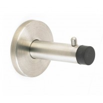 Satin Stainless Steel Coat Hooks with Rubber Buffer C4001S