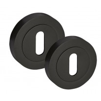 Standard Escutcheon Cover Pair in Matte Black Standard Keyhole Covers D8310BL