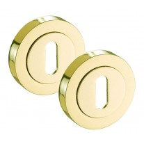 Gold Polished Brass Escutcheon Pair for Internal Doors D8310PB