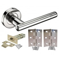 Stainless Steel Door Handle Packs with Latch and Hinges H730015P HL1