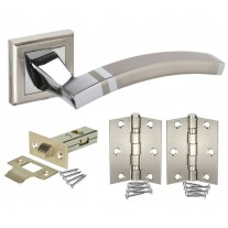 Modern Square Rose Door Handle Packs with Latch and Hinges H750060D HL1