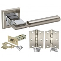 Square Rose Door Handle Packs with Latch and Hinges H750062D HL1