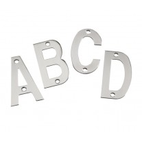 Door Letter Sign 3 Inch Polished Stainless Steel Letters A-D A21310P