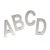 Stainless Steel Door Letters 3 Inch Brushed Stainless Steel Letters A-D A21310S