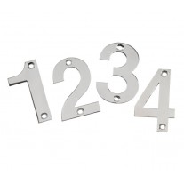 Door Number Sign 3 Inch Polished Stainless Steel Numerals 0-9 A21300P