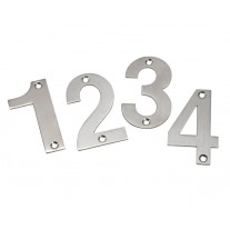 Door Number Sign 3 Inch Satin Stainless Steel Numerals 0-9 A21300S